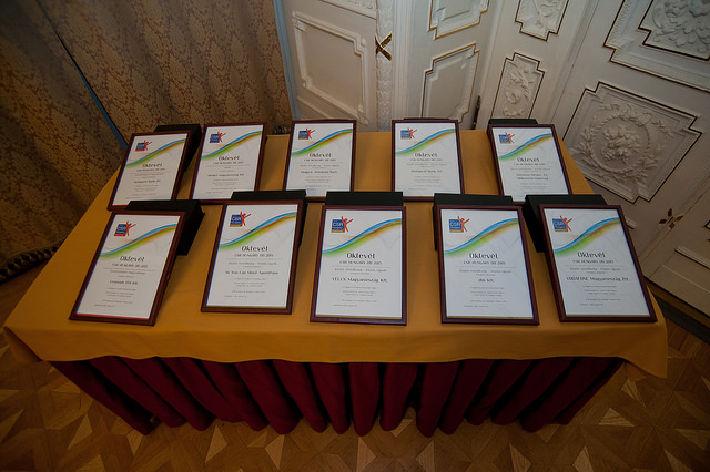 CSR Hungary Díj 2015 Díjátadó (Oklevelek)