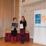 Takács Júlia,a CSR Hungary Díj alapítója és Takách Zsuzsanna (Nemzeti Média és Hírközlési Hatóság)