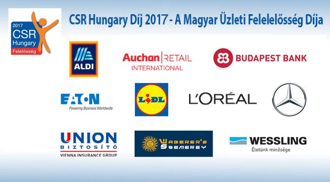 2017 -a CSR Hungary Díj védjegyhasználói